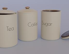 Tea Coffee and Sugar Pot 3D model