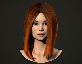 PBR realtime hair for Abella 3D asset