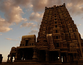 hindu india old temple 3d model
