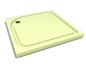 Beige Colored Cutting Board 3D model
