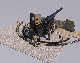 artillery battery krupp 3D model
