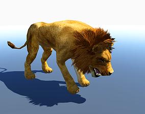 animated Lion 3d model