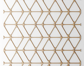 Set panel lattice grille 3D 51