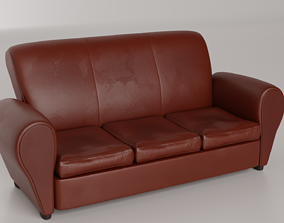 Couch 3D model VR / AR ready chair