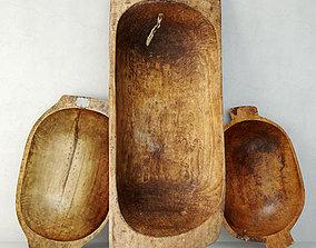 Antique Dough Bowls 4 architectural 3D model