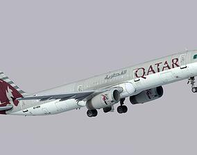 Airbus A321-200 Qatar Airways 3D asset