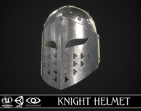 3D asset Knight Helmet 02