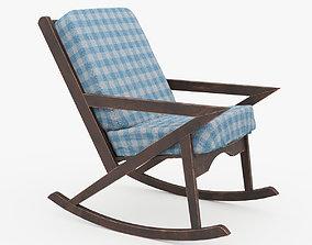 Wood Rocking Sofa Chair 3D model