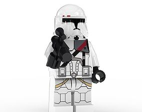 3D model LEGO Minfigure Clone Trooper Bacara