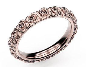 3D print model Ring Rose Garden lightweight