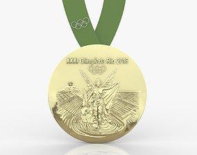 2016 Rio Olympics Medal 3D print model