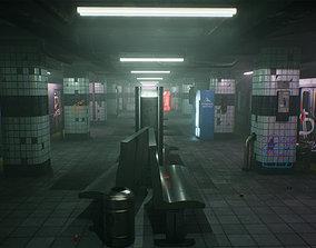 Subway Station 3D model VR / AR ready