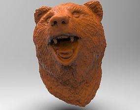 Bear head detailed scanned model
