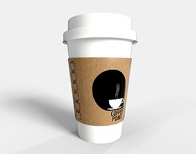 PBR Coffee Cup - Coffee Point 3D model realtime