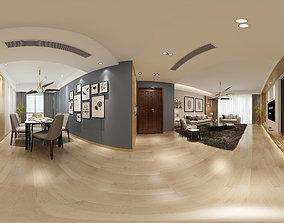 Living mic Modern Style Living Room Restaurant Space 43 3D