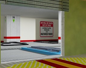 Automated Parking Garage 3D asset