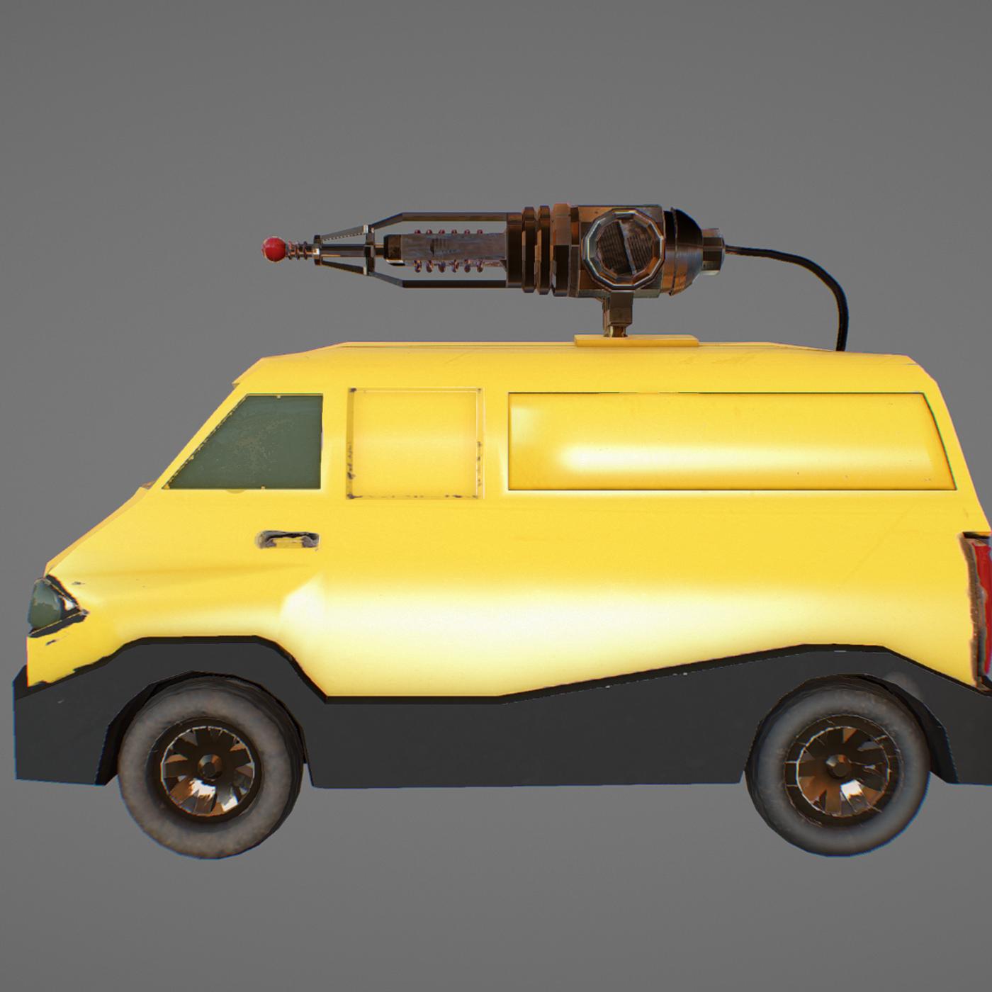 van with lasergun