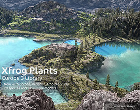 2020 XfrogPlants Europe 3 Library 3D