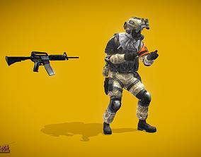 Battle Royale Soldier 1 3D asset