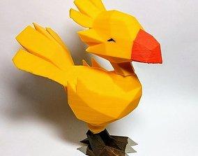 Low poly Chocobo 3D print model