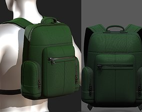 VR / AR ready Backpack bag baggage Color 3d low poly 1