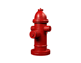 3D model realtime exterior Fire hydrant