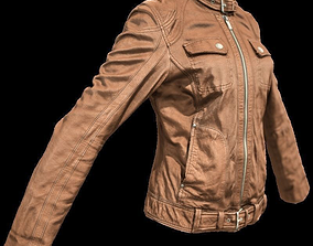 3D asset Brown Leather Jacket