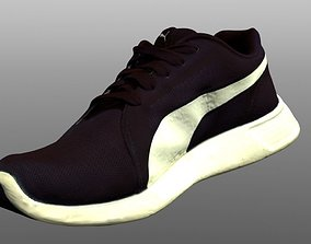 game-ready textured Sneaker 3D model low poly