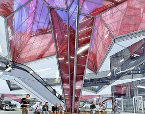 Museum Interior 3D asset