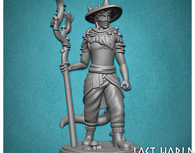 Tiefling Spore Druid - Supported - 3D Printable -