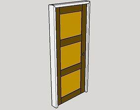 3D model Solid Door Panel