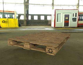 Wooden Pallet 3D model VR / AR ready