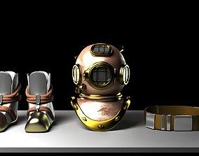 3D model Diver Suit Parts antique