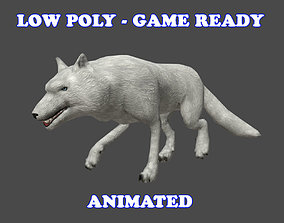 3D asset Low poly Wolf Animated - Game Ready