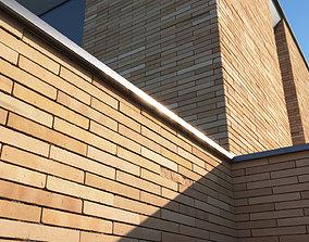 3D model Roman brick wall texture large surface