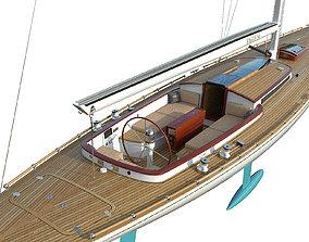 Leonardo Yacht Eagle 54 ship 3D model