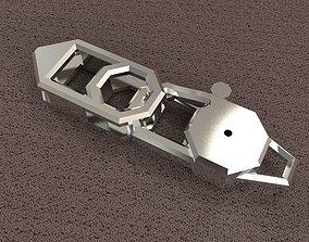 Lock octahedron carabin 3D printable model