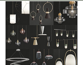 Chandeliers 3d models Collection 10 pieces realtime