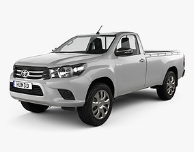 3D Toyota Hilux Single Cab SR with HQ interior 2015