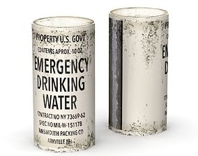 3D model Emergency Water Can -- low poly