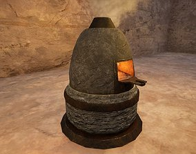 Medieval Furnace Low Poly 3D Model realtime