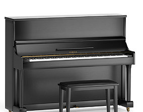 Key acoustic piano Yamaha 3D