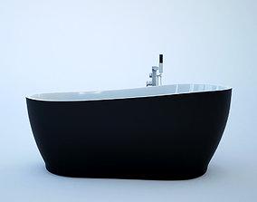 3D model Black Bathtube