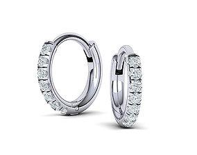 Hoop earrings 3dmodel printable 14k