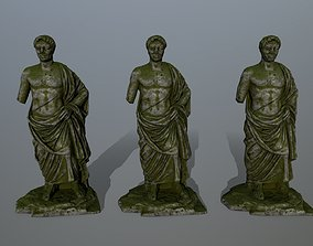 3D model low-poly statue 5 old