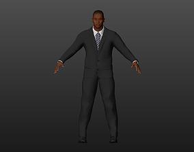 3D asset Black-skinned man