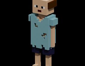A homeless character 3D asset