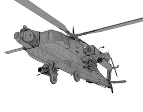 3D model AH 64 Apache military helicopter