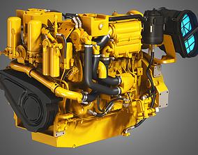 3D model 3406C Engine - 6 Cylinder Marine Diesel Engine