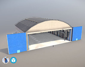 3D model game-ready Airport Hangar1 UEEE